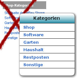 eBay Shopkategorie-Men�-Widget